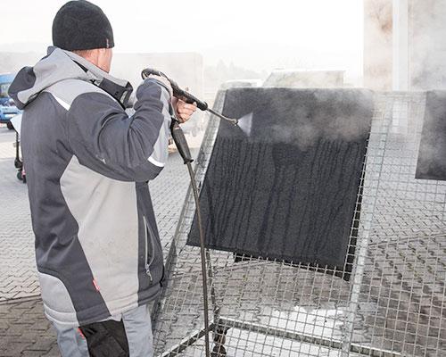 Schutzfangmattenhygiene von Langlotz Gebäudereinigung